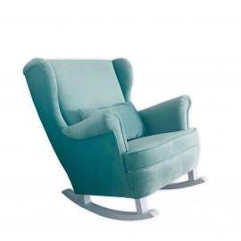Fotel bujany pikowany, uszak - Fotel na biegunach, na płozach