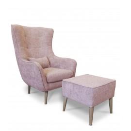 Fotel uszak z podnóżkiem - MartHome